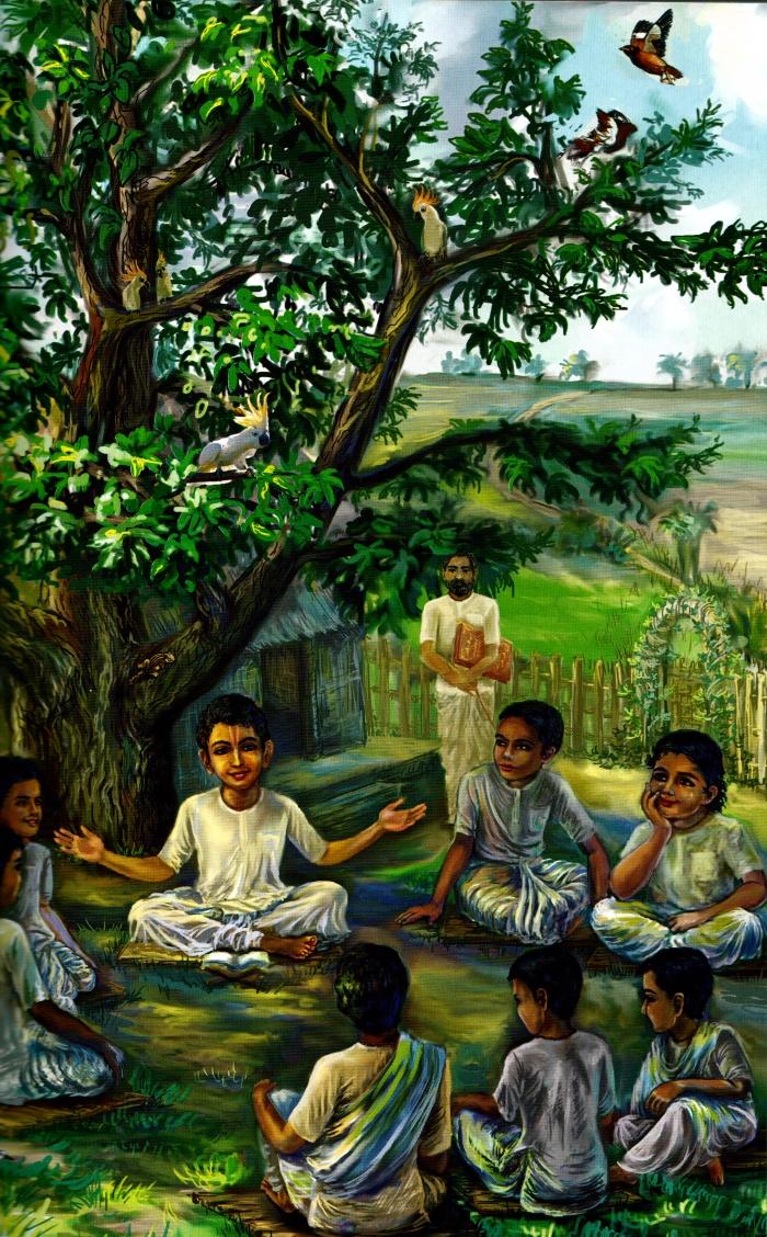 gurudeva-unterweist-schulkameraden