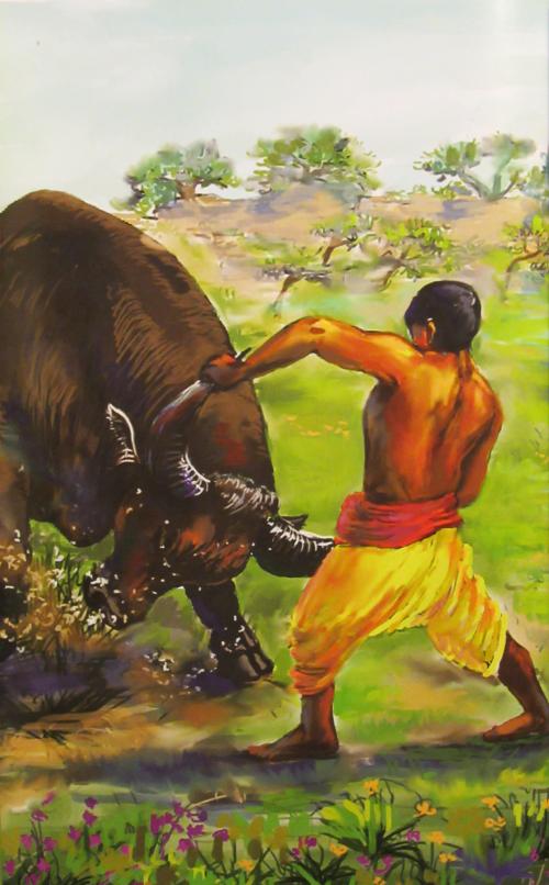 Gorakhanath bezwingt den Stier