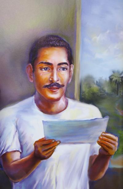 Gurudeva receiving letter